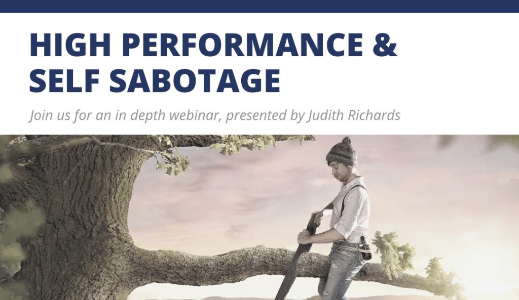 TRTP Blog Webinar Trauma High Performance and Self Sabotage